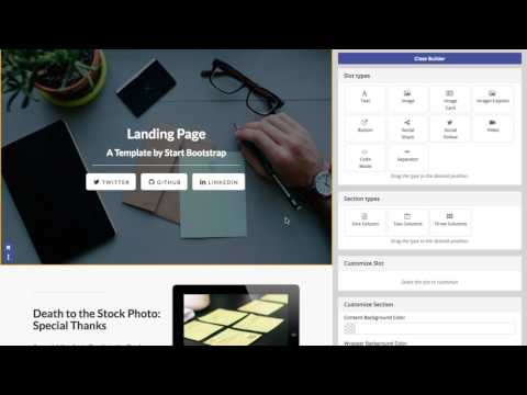 Installation and customize LP1 – a  Mautic Alighting page Theme