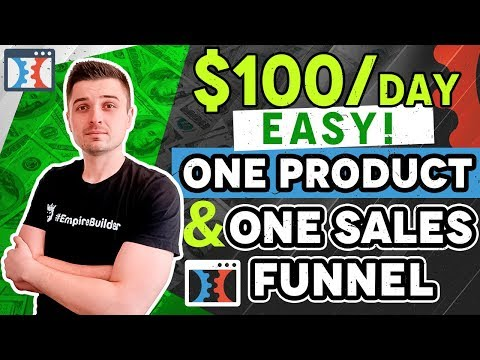 CLICKFUNNELS Drop-shipment TUTORIAL: $100 PER DAY Withought  Hundreds OF  OR SHOPIFY!