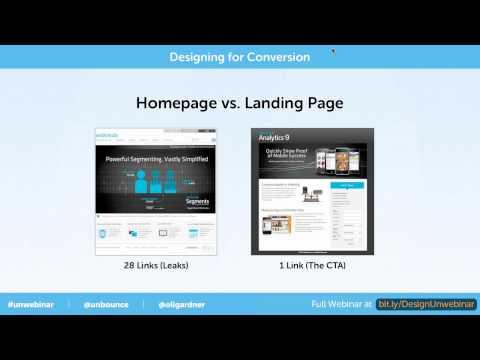 Homepage Vs  Landing Page