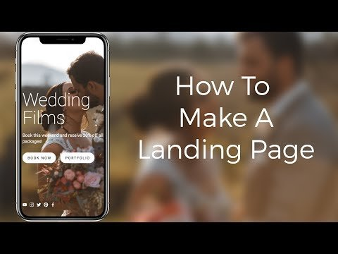 How To  A Alighting PaGe –  Tutorial