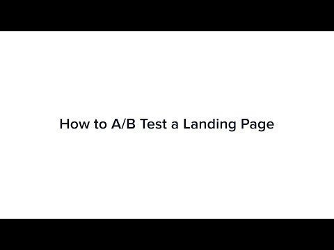 How to A/B Tests a Landings Page