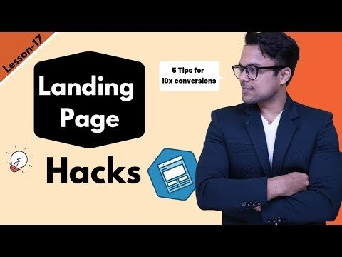 Lesson-17: Landings page: How to  a  Landings page |  Aggarwal