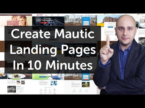 How To MAKE   Landingss Page For Mautic