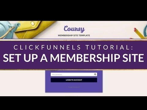 CLICKFUNNELS TUTORIAL: How to set up a ClickFunnels Member Portal