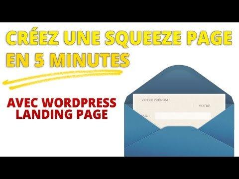 page : créer une  page en 5 Minutes Av3c WordPress  PaGe