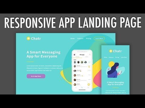 Responsive App Alighting Pages Flexbox Layout ( 2) | XO 240px