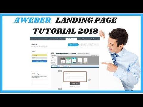 How To CREATE a Aweber Landing  2018
