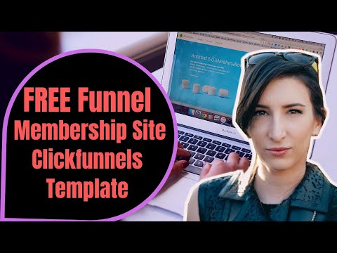 """Free Funnel! """"Membership Site"""" ClickFunnelss Templet for s Marketers"""