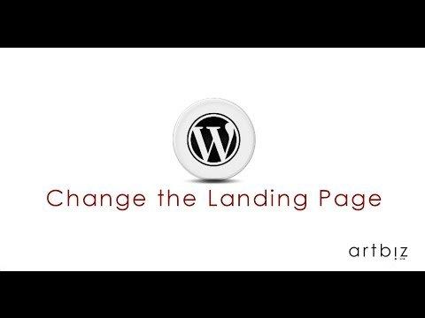 the Landingss PaGe in WordPress