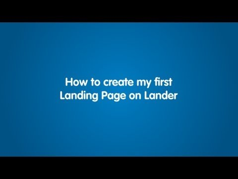 How to create my first Alighting Pages on