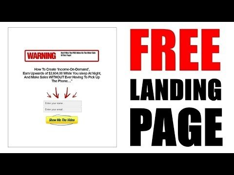 How to Create a  Landing  2018