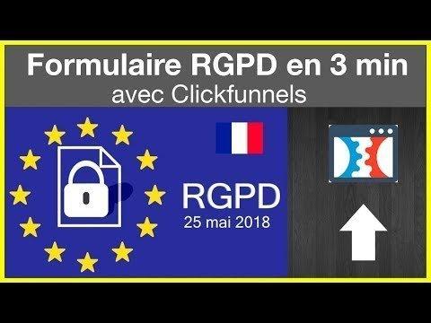 Créer un formulaire de  RGPD Avec Clickfunnels en 3 min