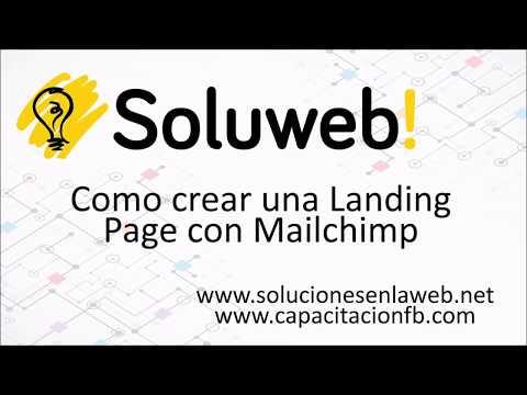 Cómo crear una  page con Mailchimp?