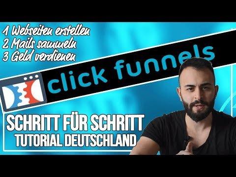 Mit CLICKFUNNELS bereits Heute  verdienen | Clickfunnels  & Erfahrung (deutsch)
