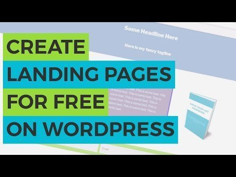 How to  Landing Page for FREE on