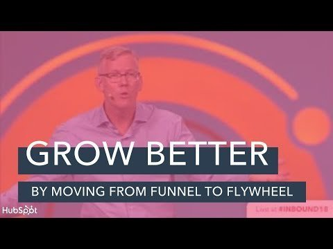 """""""Grow Betterer By Moving From The  To The Flywheel"""" 's Bryien Halligan 18 Keynote"""