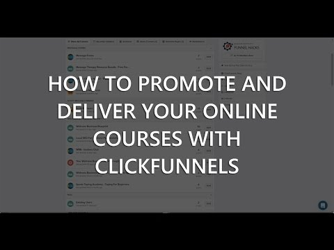 How to use ClickFunnels to Promotional and Derying  On-line Coursess
