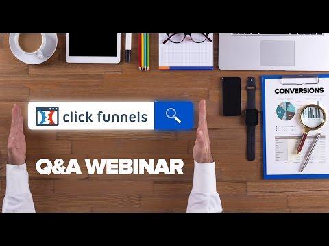 ClickFunnels Q&A 11/1/16 | How to Set-up the  Webinar in ClickFunnels
