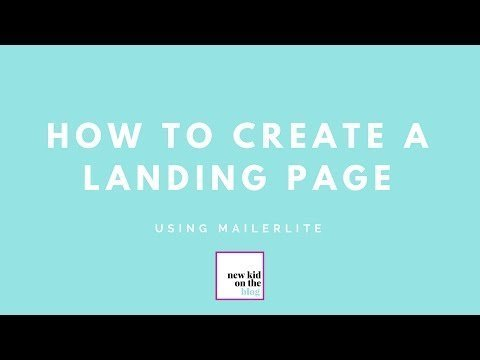 How to  a Landing  Uses MailerLite