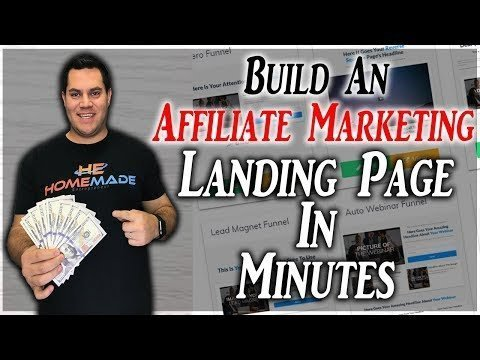 How To  A Landings Page For Affilliates Marketeer In Minutes