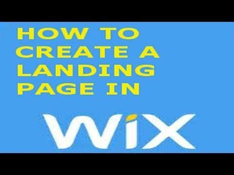 How to create a Landings page in Wix