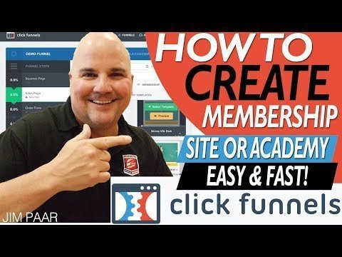How To  Builds A ClickFunnels Memberships SITE Fast! StEP by StEP Training