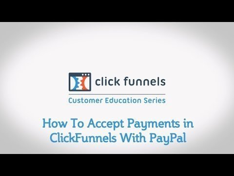 How To  Payee in ClickFunnels  PayPal