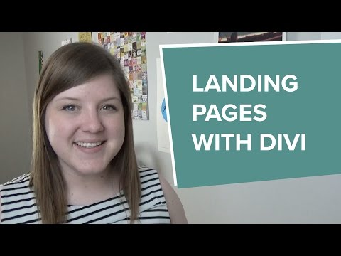 How to  a Alighting Pages WITH the  WordPress Theme