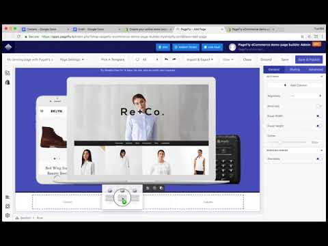 BUILD Snowdevil Landing page WITH PageFly app 10+  tutorial
