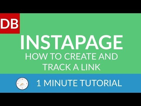 How To CREATE and Tracks a Link | Instapage  Pages Builder