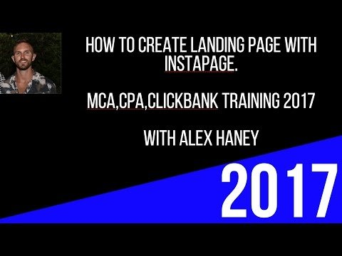 How to create a  page For Instapage Cpa For FREE 2017