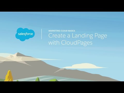 Web Studio & Content Builder – Create a Landing Page with CloudPages