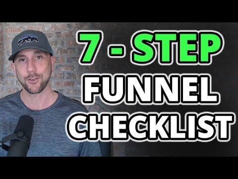 7 Step Sales Funnel Checklist – How To Launch A Million Dollar Funnel