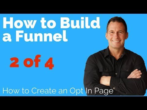 How to Create a Marketing Funnel Training 2 of 4   Lead Magnet Opt in Page