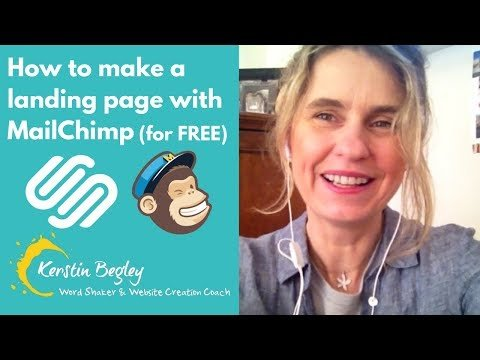 How to make a landing page with MailChimp (for FREE) – 2018