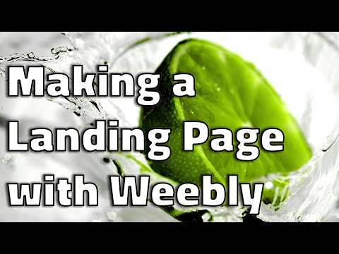 How to create a landing page in Weebly   Weebly Tutorial 2016