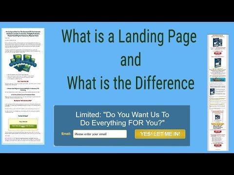 What is a Landing Page – What is the Difference