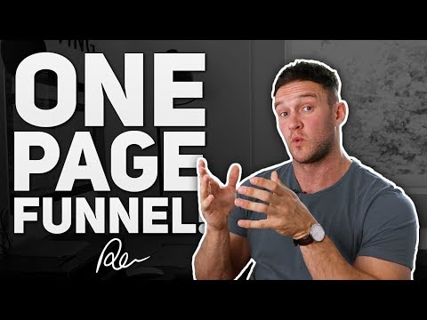 The One-Page Funnel? (Awesome Tip!)