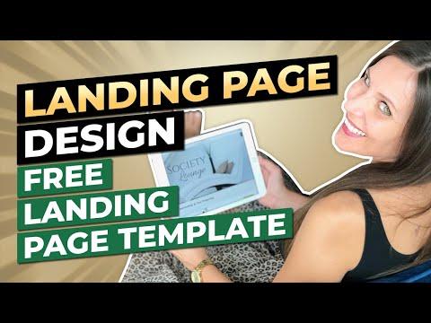 Landing Page Design Hacks That Convert | FREE LANDING PAGE TEMPLATE