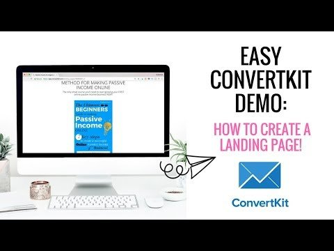 Convertkit Demo | How To Build A Landing Page | How To Create  Landing Page With Convertkit!