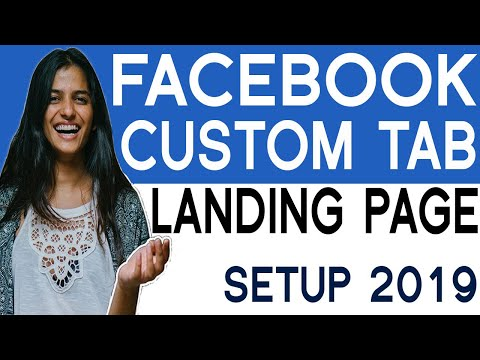 Facebook Landing Page With Custom Tab On Facebook Business Page  ( 2019 )