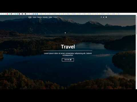 Bootstrap 4 Tutorial [#4] Landing Page with full page background image