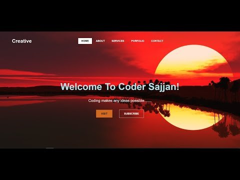 Beautiful Landing Page with HTML5 & CSS3 for Begineers | Coder Sajjan | With Source Code!