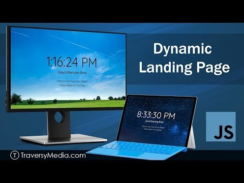 Dynamic Landing Page | JavaScript