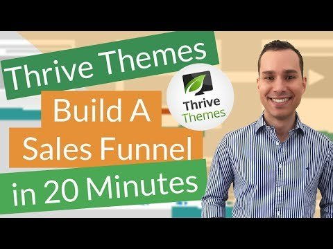 Complete Sales Funnel Thrive Themes Tutorial: Create Landing Pages, Sales Pages, and Shopping Cart