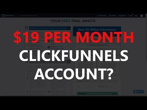 Clickfunnels Pricing 2019 – How To Get Clickfunnels For Just $19 a Month