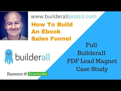 How To Build An Ebook Sales Funnel – Live Builderall List Magnet Case Study