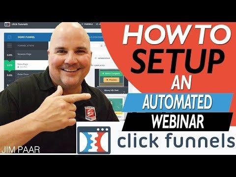 How To Setup A Clickfunnels Automated Webinar 2019 – Step by Step