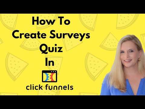How To Create Surveys / Quiz In Clickfunnels