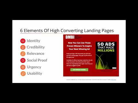 Lesson 11: 6 Elements of High Converting Landing Pages